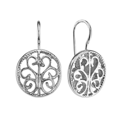 1928 - Filigree Circle Drop Earrings