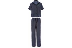 Araks - Navy Silk Polka Dot Pajama Set
