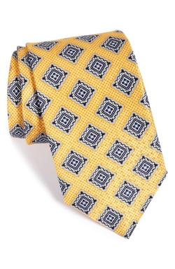 J.Z. Richards  - Medallion Print Silk Tie