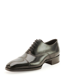 Tom Ford - Gianni Cap-Toe Lace-Up Shoes