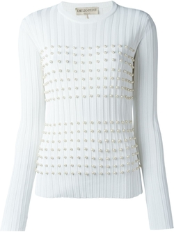 Emilio Pucci - Pearl-Embellished Sweater