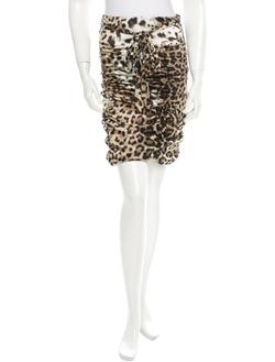 Roberto Cavalli - Animal Print Skirt