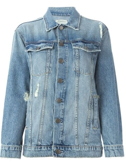 Current/Elliott - Denim Buttoned Jacket
