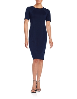 T Tahari - Fitted Sheath Dress