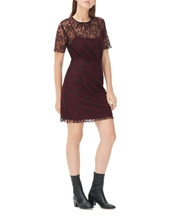Sandro  - Reply Rose Mesh Dress