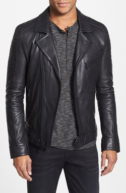 Andrew Marc - Brayden Quilted Leather Moto Jacket