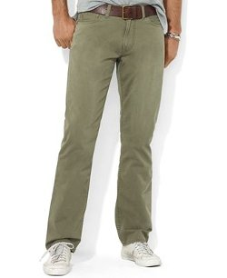 Polo Ralph Lauren  - Flat Front Straight-Fit 5-Pocket Chino