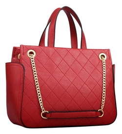 Hellofashion - Quilted Chainlink Zip Tote Bag