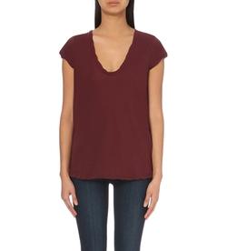 James Perse - Ruffle-Detail Cotton-Jersey T-Shirt