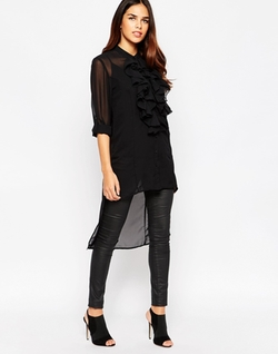AX Paris - Ruffle Front Shirt