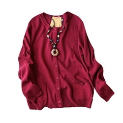 Y-Yapparel - Crew Neck Button Down Cardigan