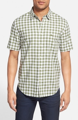 Lacoste  - Classic Fit Short Sleeve Gingham Woven Shirt