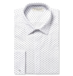 Burberry London - White Printed Cotton Shirt