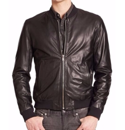 BLK DNM  - Leather Bomber Jacket