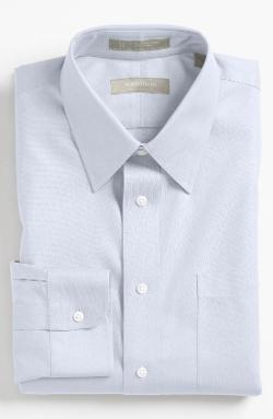 Nordstrom  - Smartcare Wrinkle Free Traditional Fit Herringbone Dress Shirt