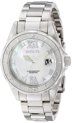 Invicta - Pro Diver Analog Display Swiss Quartz Silver Watch