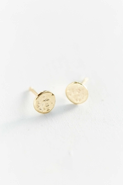 Urbanout Fitters - Upper Metal Class Gold Eclipse Earring