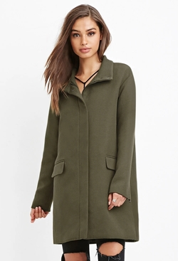 Forever21 - Flap Pocket Boxy Coat