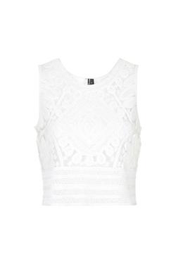 Topshop - Premium Cornelli Lace Shell Top