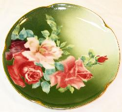 Sweetpea Cottage  - Decorative K & G Rose Plate
