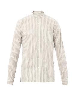 Steven Alan  - Amos Band-Collar Cotton Shirt