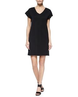 Misook - Short-Sleeve V-Neck Dress