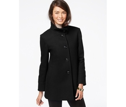Larry Levine  - Stand-Collar Wool Coat