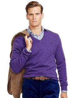 Ralph Lauren - Wool V Neck Sweater