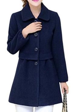 Cloudy Arch Women - Collar Wool-Blend Coat