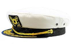 Dorfman Pacific  - Unisex Classic Nautical Captains Hat
