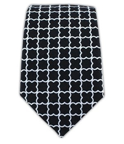 The Tie Bar - Printed Cotton Iron Gate Tie
