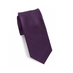Black Brown 1826 - Checked Silk Tie