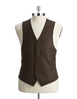 Black Brown 1826 - Button-Down Vest Vest