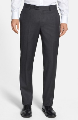 Nordstrom - Flat Front Wool Trousers