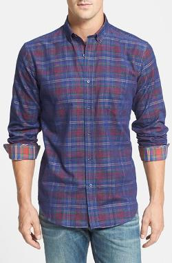 Bugatchi  - Trim Fit Plaid Sport Shirt