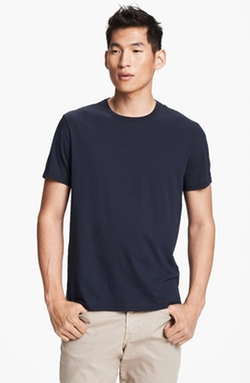 Vince  - Pima Cotton Crewneck T-Shirt