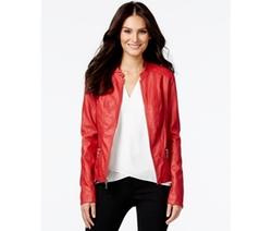 Alfani  - Faux-Leather Bomber Jacket