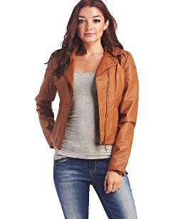 Wet Seal - Ruffle Back Moto Jacket