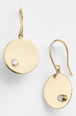 Lana Jewelry - Diamond Disc Drop Earring