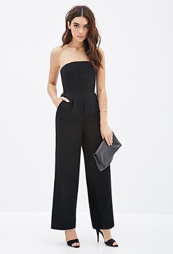 Forever21 - Strapless Wide-Leg Jumpsuit