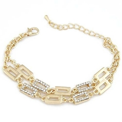 Jewelry Bracelet - Double Layers Geometry Chain Bracelets