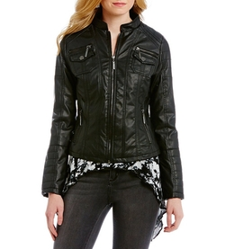 Indigo Saints - Faux-Leather Jacket