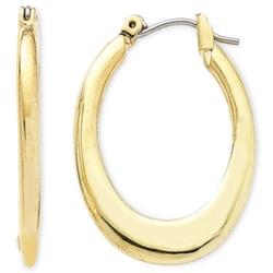 Liz Claiborne - Gold-Tone Oval Hoop Earrings
