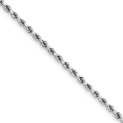 Forever Flawless Jewelry - Diamond Cut Rope Link Chain Necklace