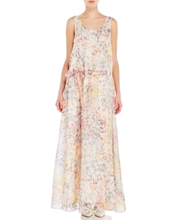 Century21 - Leonard Ornella Printed Silk Maxi Dress