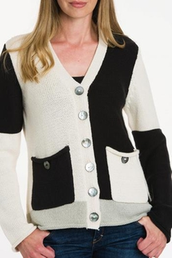 Pure Handknit - V-Neck Button Cardigan