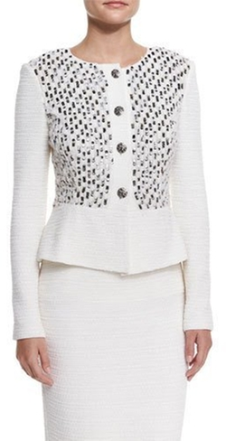 St. John - Collection Bella Knit Sequin Peplum Jacket