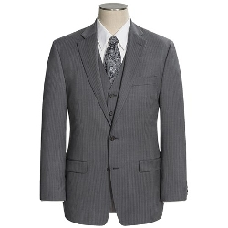 Lauren by Ralph Lauren  - Wool Stripe Suit