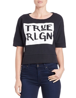 True Religion - Graphic Cropped Top