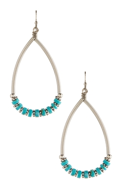 Free Press  - Beaded Teardrop Earrings